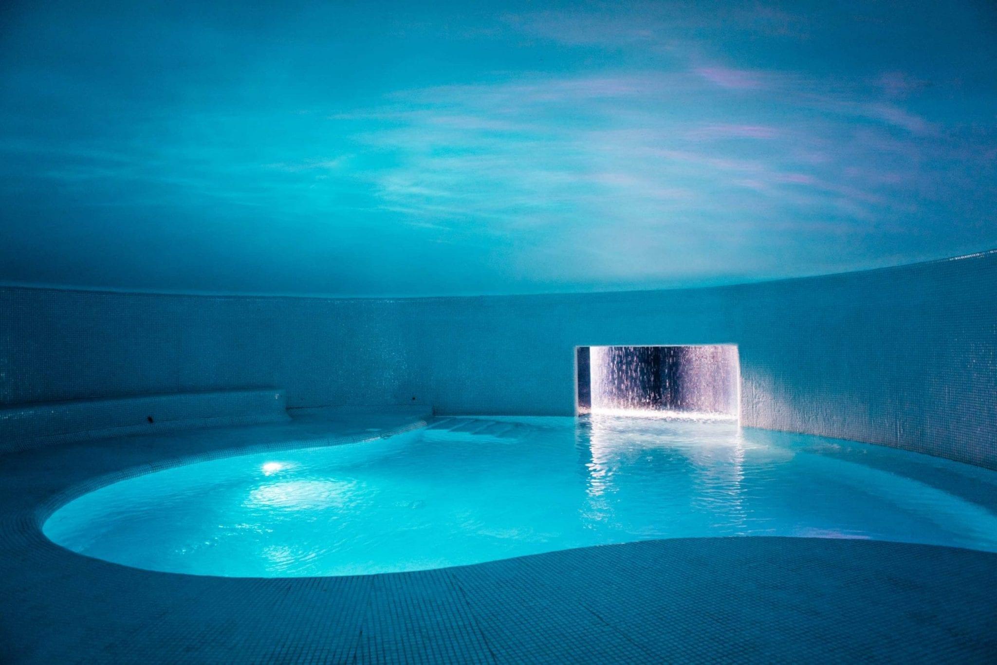 Underground and indoor pool